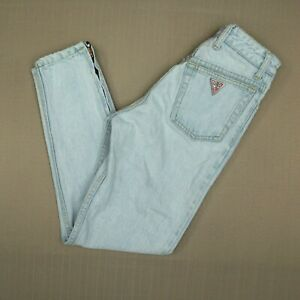 Guess 1015 High Waist Tapered Jeans Women's 26 Vintage Made In USA  Ankle Zipper