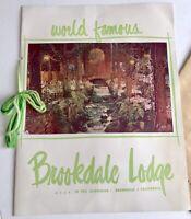 Brookdale Lodge Brookdale California Vintage Photo Menu Ghost Haunted Redwoods