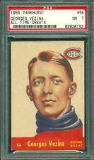 Georges Vezina 1955 Parkhurst #56 * PSA 7 * NHL Legend - Canadians - Sharp Card