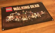 THE WALKING DEAD LEGO POSTER COMIC BANNER BOOK TOY FIGURE ACTION TRUCK WEAPON