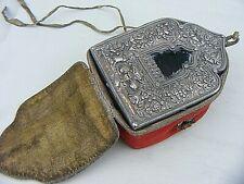 More details for antique tibetan gau shrine box silver front 19th century