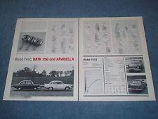 1960 Lloyd Arabella and DKW 750 Vintage Road Test Info Article