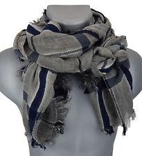 e4fb7538d2e60c Herrenschal grau schwarz blau Ella Jonte breiter edler Schal Baumwolle  Viskose