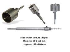 Scie trépan béton pour perforateur sds plus diamètre 30 à 150 mm PRSDST...
