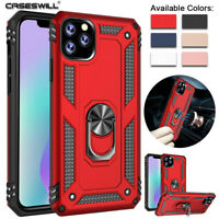 For iPhone 11 Pro X XS Max XR 8 7 6s Plus Case Shockproof Armor Ring Stand Cover