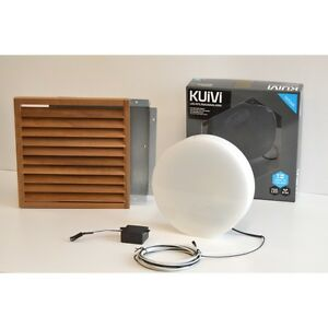 SAUNA LED Recessed Wall Light Lamp 3W 340 Lumens IP44 Wooden Shade In 5 Colours