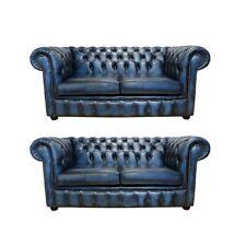 Chesterfield Design Luxus Polster Sofa Couch Sitz Garnitur Leder Textil Neu #164