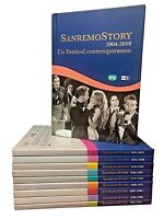 10 Dvd + Libro Lotto Stock SANREMO STORY Rai Trade collezione completa come nuov