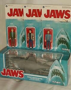 FUNKO Reaction Action Figure set 4 MOC JAWS Movie Bruce Shark BRODY HOOPER QUINT