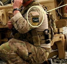 AFSOC PEDRO PJ DUSTOFF PARARESCUE SSI: Cheshire Cat We're All Mad Here + DD Flag