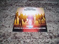 "Edward sharpe & the magnetic zeros cd single promo france ""home""pub peugeot 2008"
