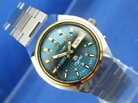 Vintage Retro Swiss Tressa Lux Crystal Automatic Watch 1970s NOS Cal AS 5206-1