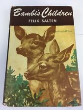 Bambi's Children Felix Salten Vintage Hardcover 1939 Thrushwood Books