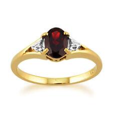 Anelli di lusso rosso naturale ovale