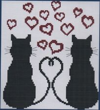 Easy Counted Cross Stitch Kit, Cats In Love