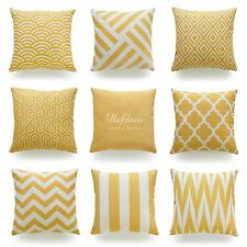 Hofdeco Throw Pillow Case Mustard Yellow HEAVY WEIGHT FABRIC Cushion Cover 45x45