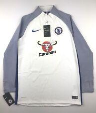 Nike Sz Large Chelsea 17/18 Aeroswift Strike Soccer 1/4 Zip Pullover Jacket $145