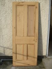 "29"" 1/2 x 76"" 3/4 Internal four panel Victorian stripped pine house Door MP- 931"