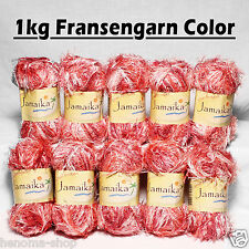 "1kg Fransenwolle "" BERRY COLOR "" Fransengarn Effektgarn Wolle stricken Brazilia"