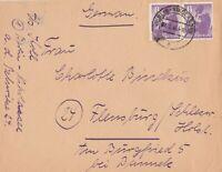 Briefumschlag verschickt von Berlin nach Flensburg Jahr 1946 wertvolle Frankatur
