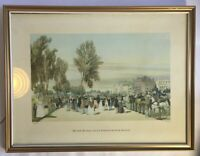 Print Hyde Park Near Grosvenor Gate Victorian Scene