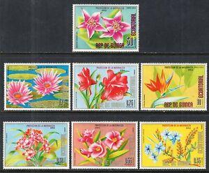 Equatorial Guinea #Mi980-Mi986 MNH CV€3.50 African Flowers