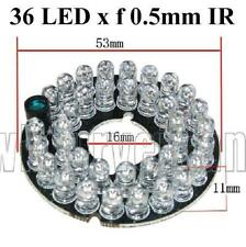 36 Infared 0.5mm 60 Degrees spread Clear LED Board for Bullet CCTV Cameras