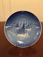 Vintage 1966 BING & GRONDAHL B&G Blue/White Christmas Collectors Plate Denmark