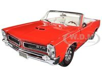 1965 PONTIAC GTO CONVERTIBLE RED 1:18 DIECAST MODEL CAR BY MAISTO 31884