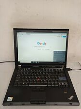 """Lenovo ThinkPad T400 Core 2 Duo P8400 2.27 GHz 6 GB 320 GB 14.1"""" Win10 w/charger"""