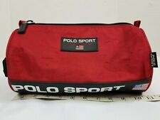 Vintage Ralph Lauren Polo Sport Toiletry Travel Pouch Bag Case Red Spell Out 90s