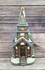 Vintage Lefton Colonial Village Church Lighted House Ceramic