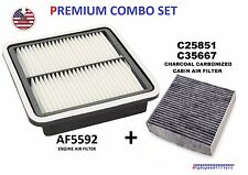 ENGINE & CHARCOAL CABIN AIR FILTER COMBO SET FOR 2010 - 19 SUBARU OUTBACK LEGACY