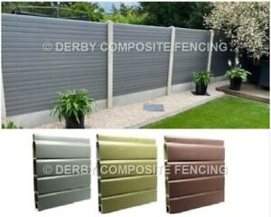 REPLACEMENT FENCE PANELS ++ COMPOSITE / UPVC ++ NO MORE PAINTING ++ SEE VIDEO ++