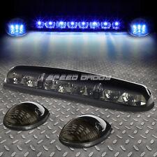 FOR 02-07 SILVERADO/SIERRA 3PCS SMOKED HOUSING BLUE LED CAB ROOF RUNNING LIGHT