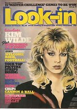 Look-In Magazine 29 August 1981     Kim Wilde    Martin Kemp of Spandau Ballet
