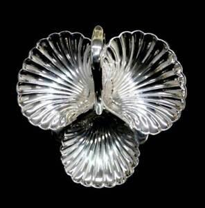 Vintage Barker Bros England silver plated EPNS large shell nut snack bowl
