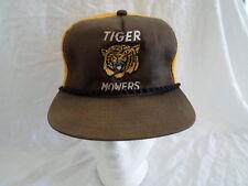 Vintage Tiger Mowers Baseball Cap Hat Snapback Trucker