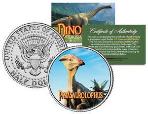 PARASAUROLOPHUS *Collectible Dinosaur* JFK Kennedy Half Dollar US Colorized Coin