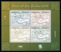 Marshall Inseln 2013 Jahr der Schlange Snake Zodiac Neujahr Block Postfrisch MNH