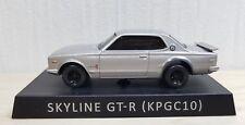 1/72 UCC NISSAN SKYLINE 2000 GT-R KPGC10 SILVER diecast car pullback model