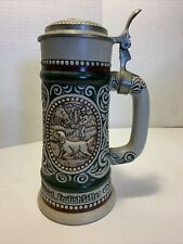 Avon Beer Stein Pewter Lid Fish And English Setter Vtg Pre-owned