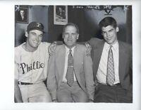 1951 Dick George Sisler Princeton Type I Original Photo Hall Fame Rare Phillies