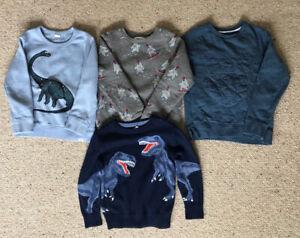 Bundle 4x Boys Jumpers / Sweatshirts M&S, Gap, Mothercare Size 4 & 5-6 Years