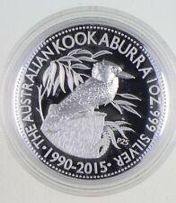 2015 Australian Australia Kookaburra High Relief 1 Oz Silver .999 *942