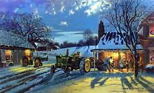 Dave Barnhouse The Warmth of Home John Deere Tractor Farm Artist Proof Print