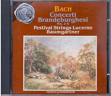 "BACH CONCERTI ""BRANDEBURGHESI N. 1-4"" FESTIVAL STRINGS LUCERNE CD NUOVO"