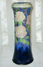 Vintage Royal Doulton - Roses on Blue - Tall Vase