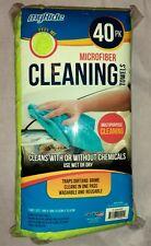 "40 myride Microfibre Ultra Plush Microfiber Towel 14"" x 14"" Green FACTORY SEALED"