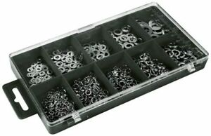 Assorted Various Sizes Lock & Washer Set 500pc Plastic Case Home DIY NEW
